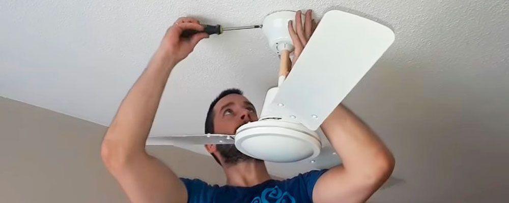 Instalar ventilador techo con luz