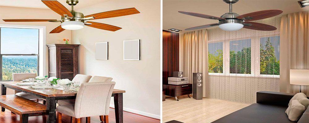 Ventiladores techo con mando a distancia