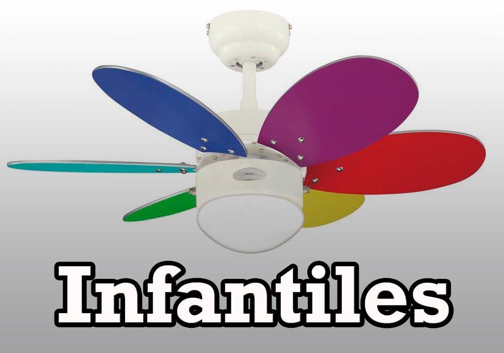 Ventiladores de techo infantiles