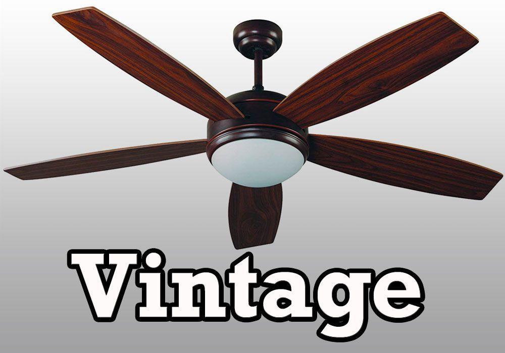 Ventiladores de Techo Vintage Retro