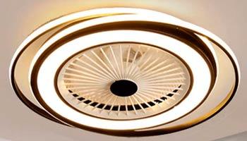 Lámpara Ventilador Regulable con Mando a Distancia