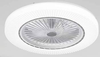 Ventilador Invisible Plafón con Control Remoto y Led