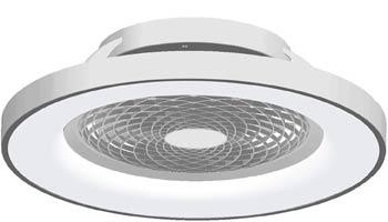 Ventilador Plata Led con Control Remoto