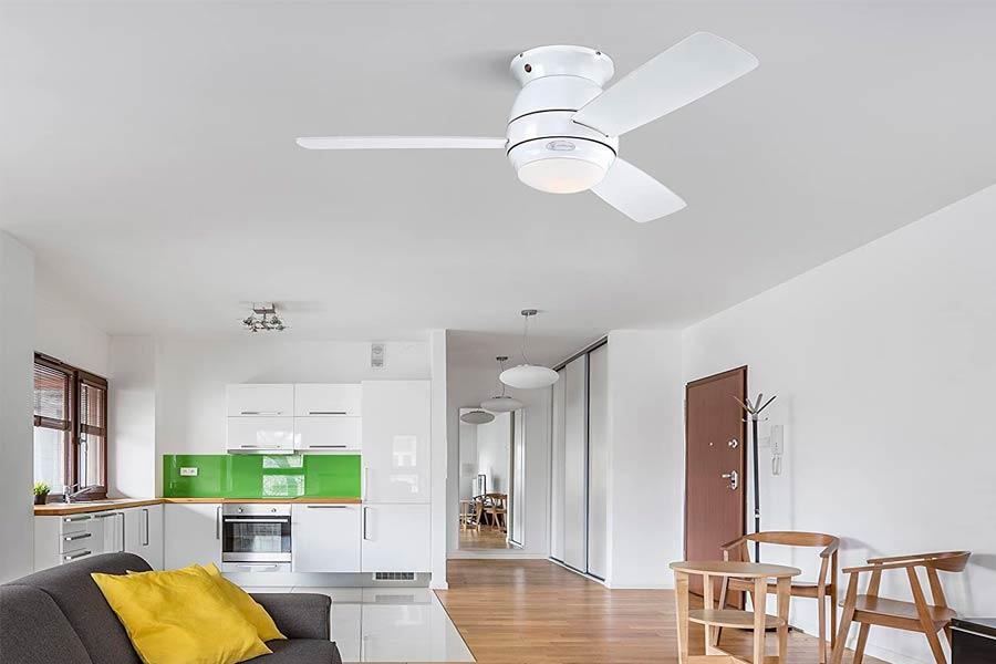 Ventilador de Techo Blanco Lighting Halley Oferta