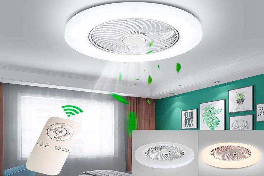 Ventilador de Techo Sin Aspas Moderno y Decorativo