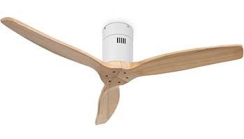 Ventilador de Techo de Madera Natural Blanco