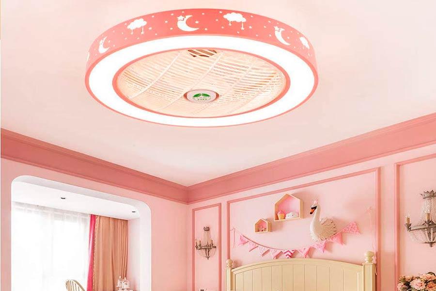 Lámpara Ventilador Invisible Infantil con Led y Mando