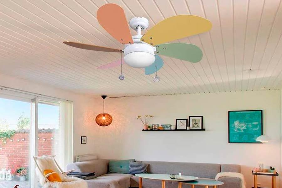 Oferta Ventilador de Techo Infantil Colores Pastel