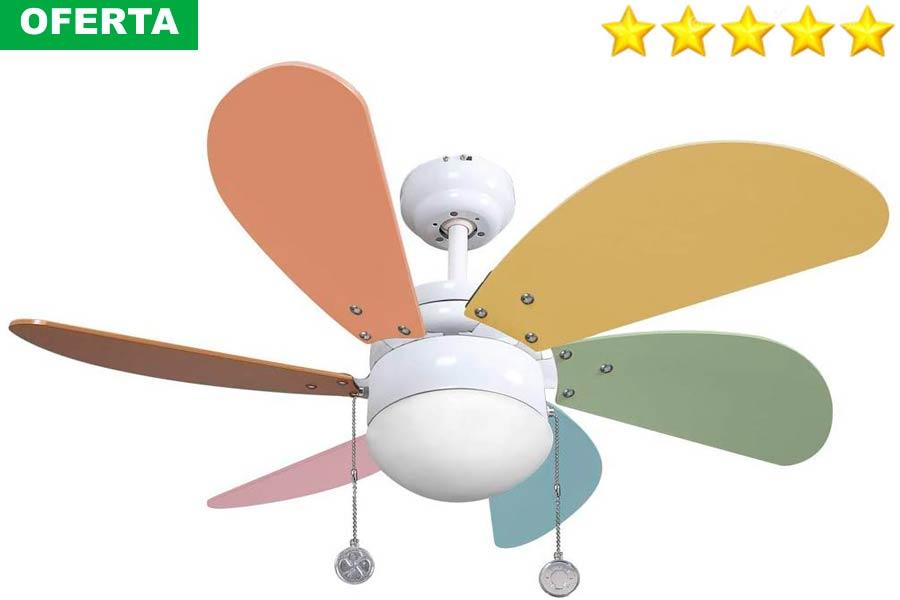 Ventilador de Colores para Techo Barato